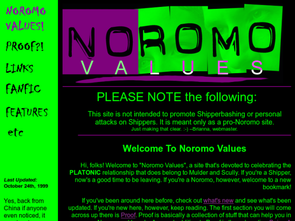 Noromo Values slide