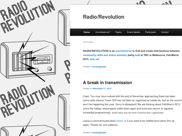 Radio/Revolution slide