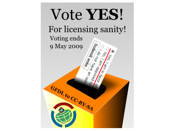 Vote YES! for licensing sanity! slide
