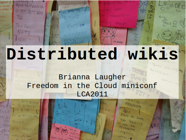 Distributed wikis slide