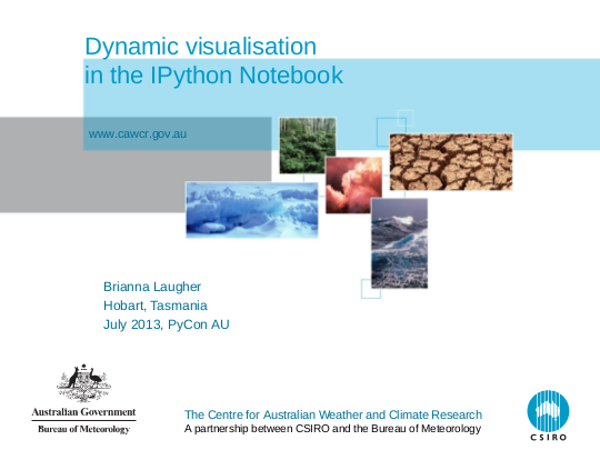 Dynamic visualisation in the IPython Notebook slide