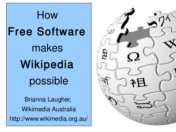 Free Software & Wikipedia slide