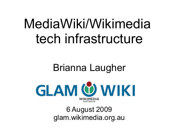 Wikimedia tech infrastructure slide